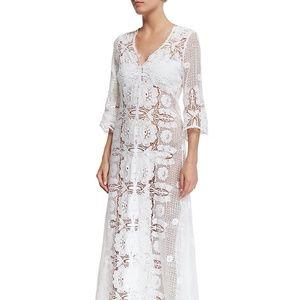 Miguelina Karina Cotton Crochet Lace Dress M NWT